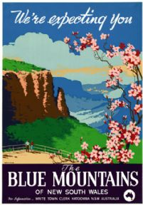 The Blue Mountains, Katoomba, New South Wales. Vintage Travel Poster by Joseph Booker